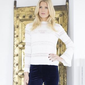 ByTimo White Lace Ruffle Victorian Long Sleeve Top